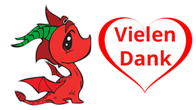 RED DRAGON sagt Vielen Dank Drache Links